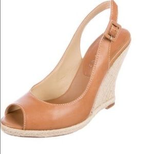 Tan Slingbacks Wedges